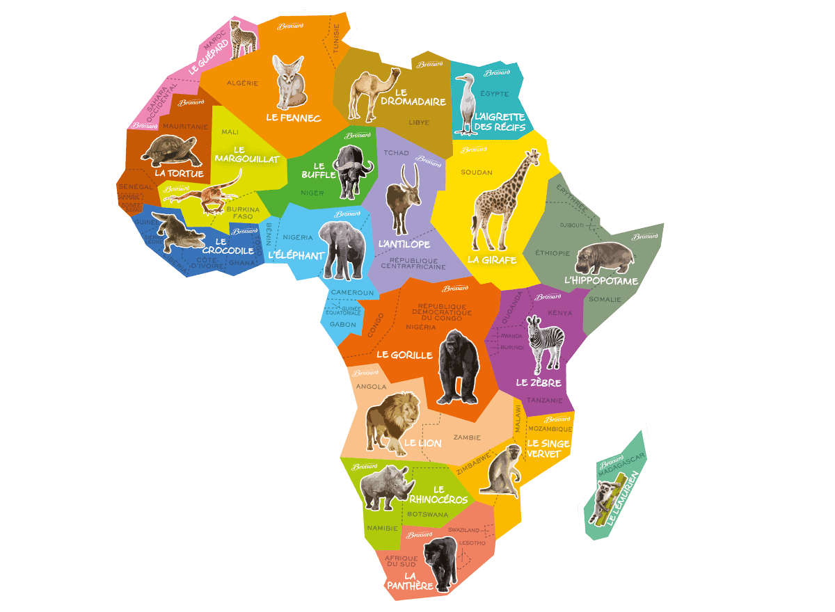 Carte des magnets Brossard Afrique